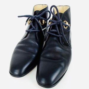 GUCCI Horsebit Leather Boots - Size 8
